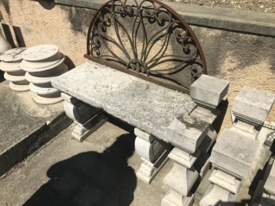Stone Bench for stone accent pieces for a new house in Le Marche