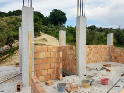 Top of the Stairs of a new house being built in Le Marche