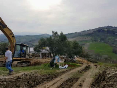 Working Higher on the Hill as part of house construction project in Le Marche