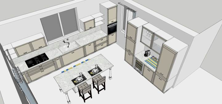 Selected kitchen design