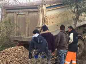 Dumping Base Layer Gravel