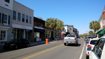 Downtown Beaufort, SC on Bay ST.