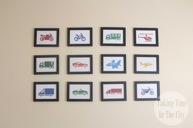 Our Boy Life - Transportation Bedroom Wall Art