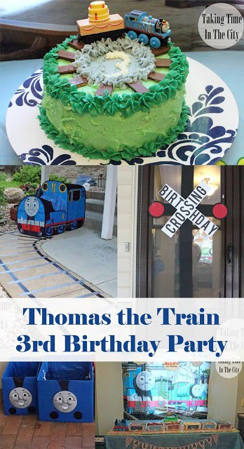 Our Boy Life - Thomas the Train Birthday Party Collage