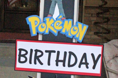 Pokemon Birthday Party Sign- Our Boy Life