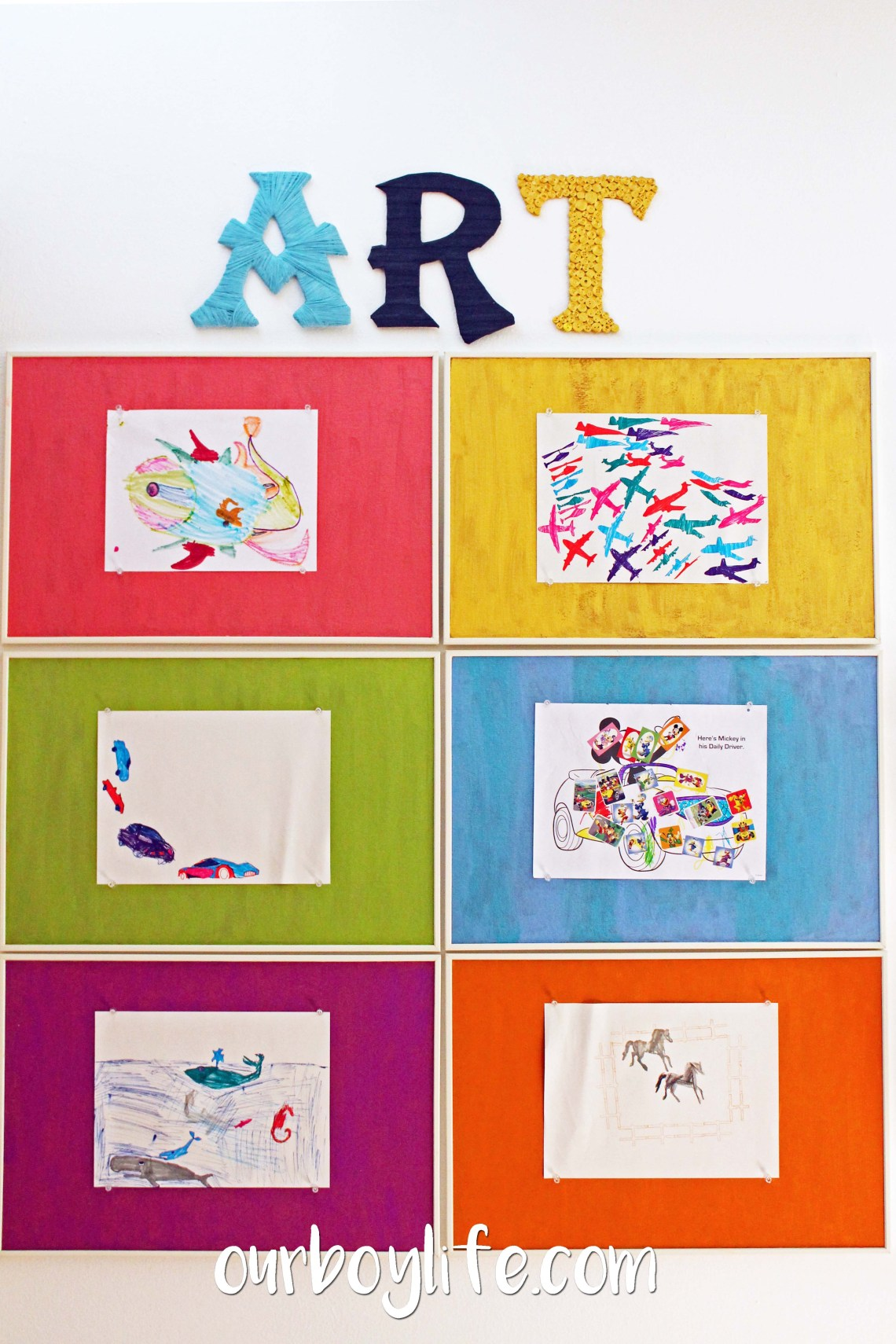 Kids' Art Display Wall