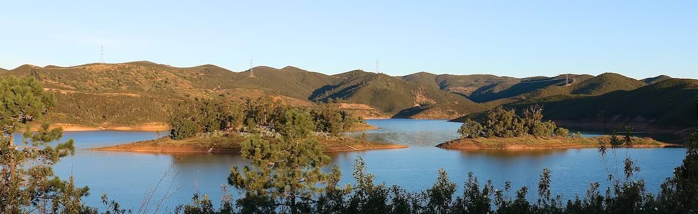 The view at Barragem do Arade.