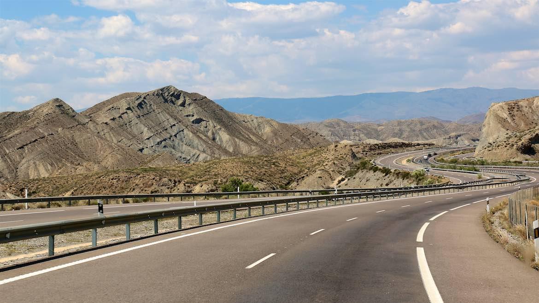 The road from Almeria.
