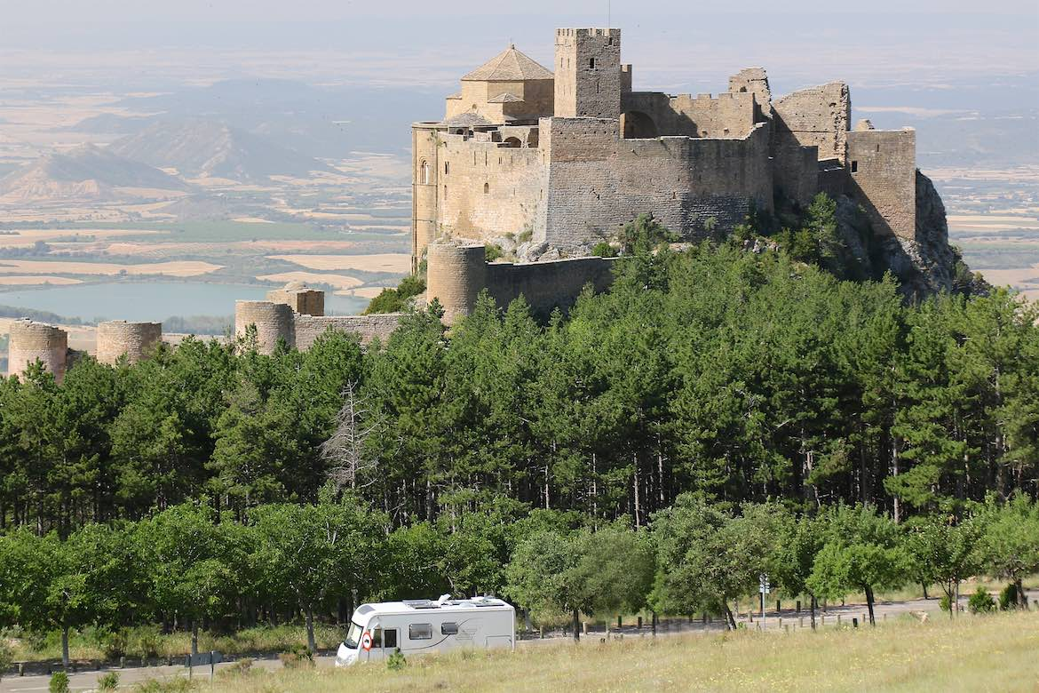 Parked at Castillo de Loarre.