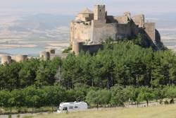 Parked at Castillo de Loarre.