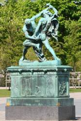 A Statue of Two Chaps Fighting