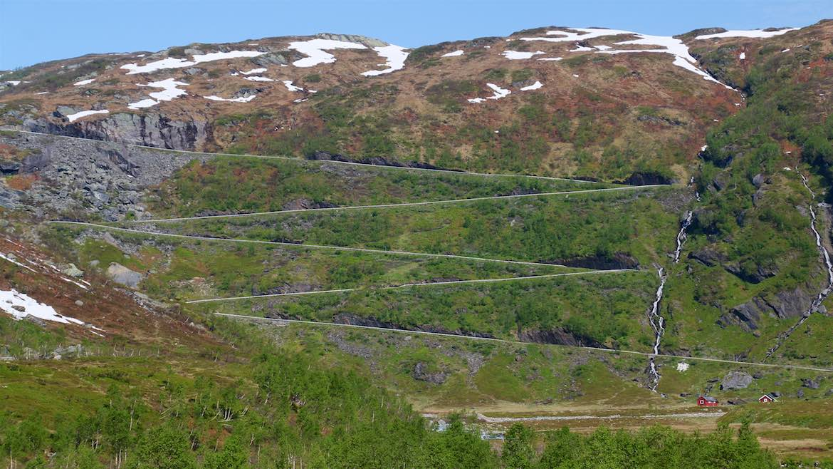One heck of a zig zag road, Vikafjellet