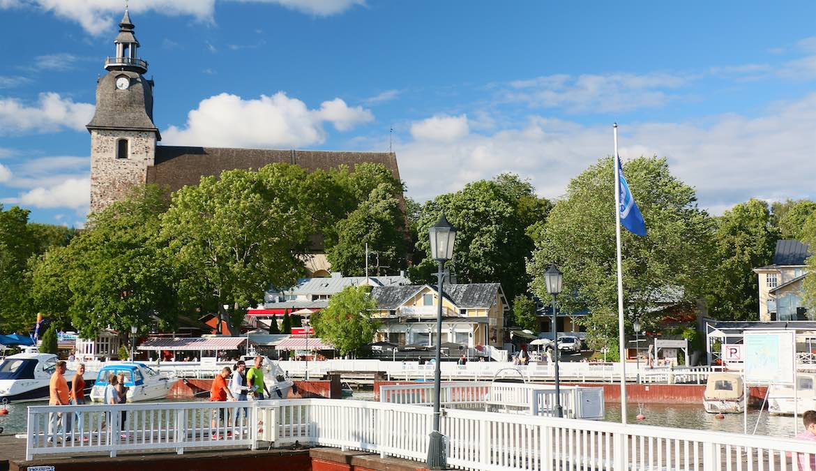 Naantali monastery on the marina