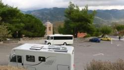 Ossios Loukas parking spot