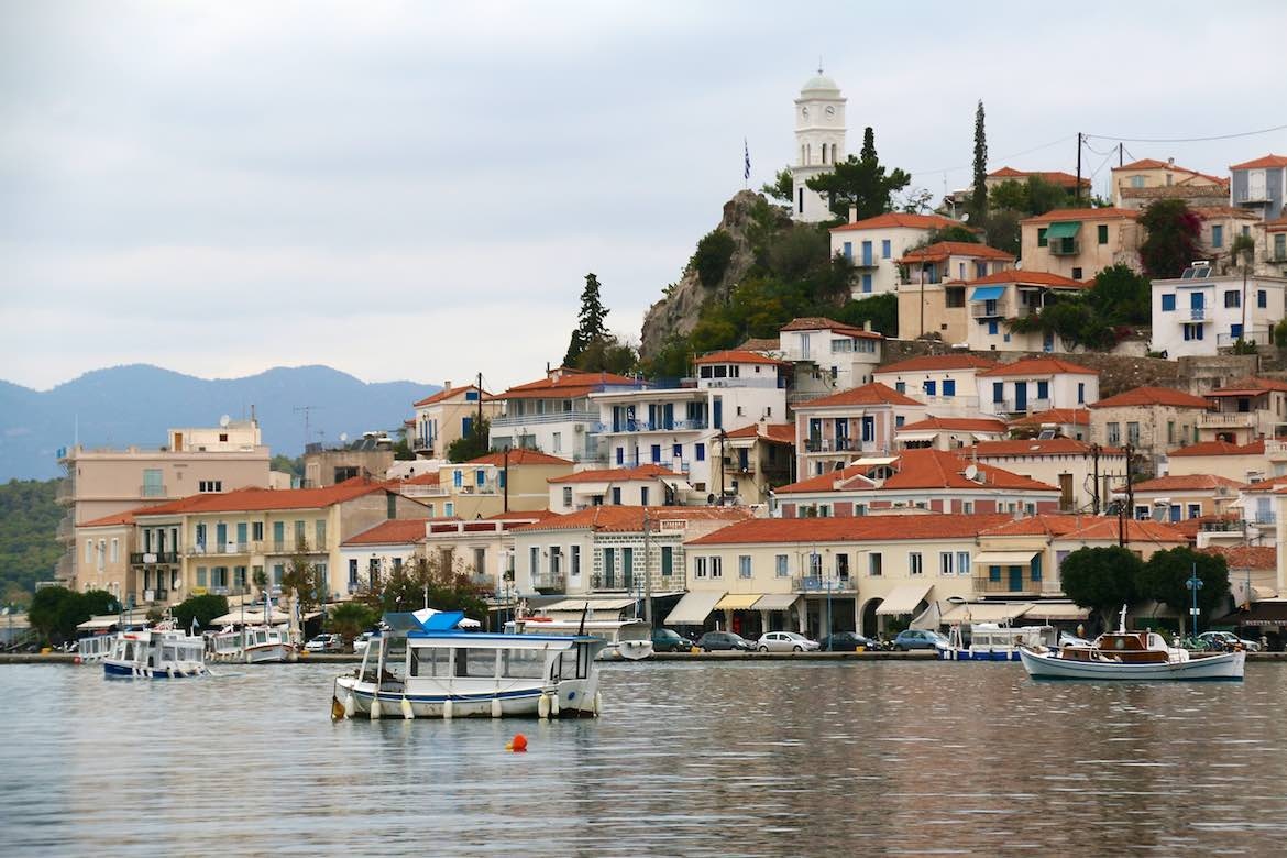 Poros Town just across the water