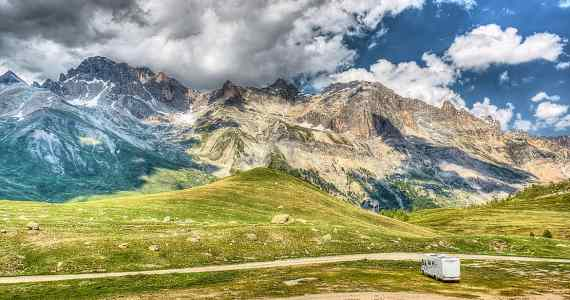 motorhome parking Col du Galibier