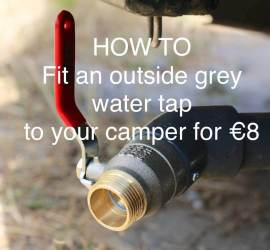 Motorhome grey water tap
