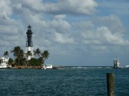 Hillsboro Inlet Light from across the river