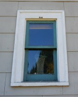 East-facing attic stairwell window