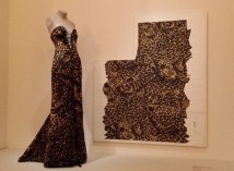 Leopard print evening ress by YSL