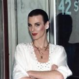 Erica Van Cort, Miss Gay North Carolina 1981, outside Durham, NC, night club 42nd Street. (Photo courtesy of Alphonse Guardino)
