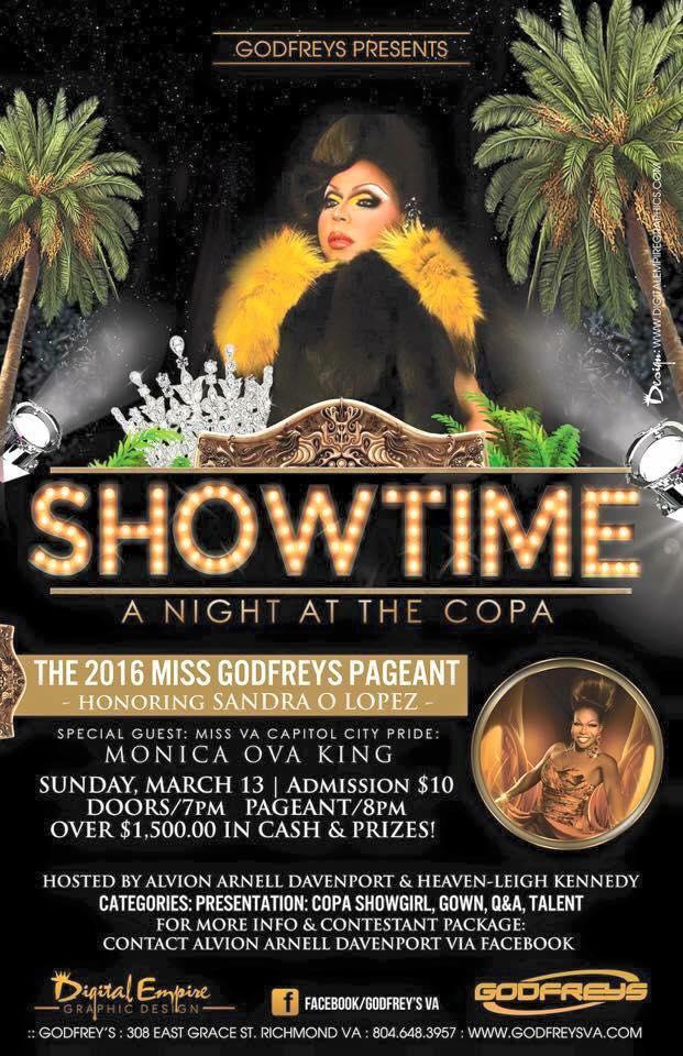 Show Ad | Miss Godfrey's | Godfrey's Restaurant and Nightclub (Richmond, Virginia) | 3/13/2016