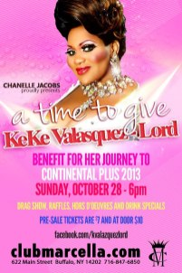 Benefit for Keke Valasquez-Lord | Club Marcella (Buffalo, New York) | 10/28/2012