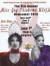 Show Ad | Miss Gay Oklahoma USofA Newcomer | Angles (Oklahoma City, Oklahoma) | 6/7/2015