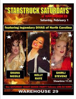 Starstruck Saturdays | Warehouse 29 (Greensboro, North Carolina) | 2/1/2014