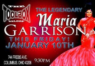 Show Ad Featuring Maria Garrison | Toolbox Saloon (Columbus, Ohio) | 1/10/2014