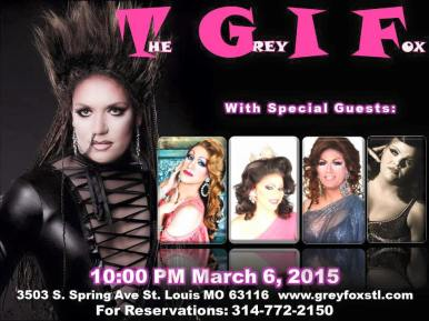 Show Ad   Grey Fox (St. Louis, Missouri)   3/6/2015