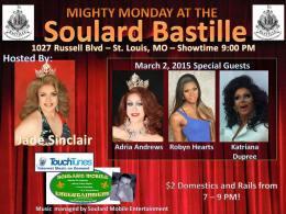 Show Ad | Soulard Bastille (St. Louis, Missouri) | 3/2/2015