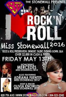 Show Ad   Miss Stonewall   Stonewall (Huntington, West Virginia)   5/13/2016
