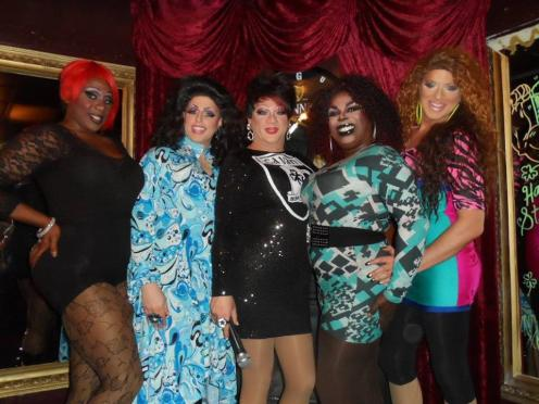 Jayla Cruz, Alli Katt, Hellin Bedd, Cherry Poppins and Riley Morgan at Cavan Irish Pub (Columbus, Ohio) March 2015