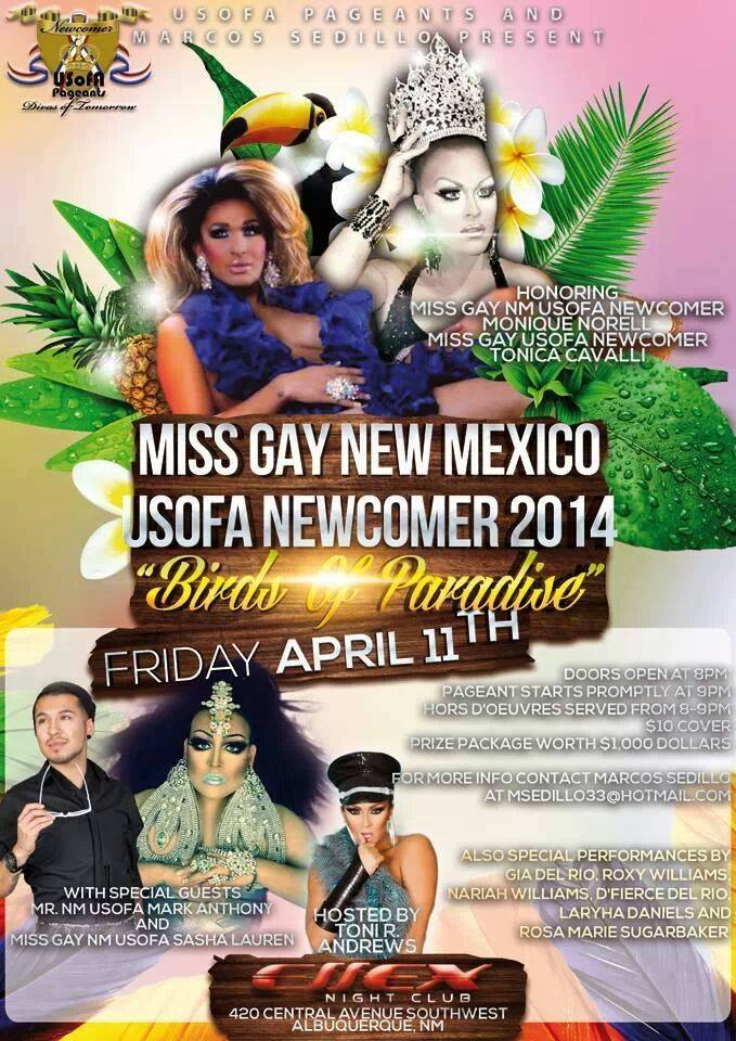 Show Ad   Miss Gay New Mexico USofA Newcomer   4/11/2014