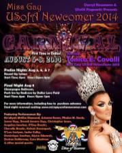 Show Ad | Miss Gay USofA Newcomer | Round-Up Saloon & Champagne Ballroom (Dallas, Texas) | 8/5-8/8/2014