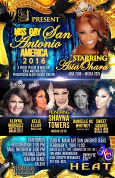 Show Ad | Miss Gay San Antonio America | Heat (San Antonio, Texas) | 2/9/2016