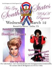 Show Ad | Miss Gay Southern States USofA | Round-Up Saloon (Dallas, Texas) | 3/12/2014