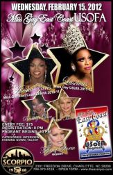 Show Ad | Miss Gay East Coast USofA | Scorpio (Charlotte, North Carolina) | 2/15/2012