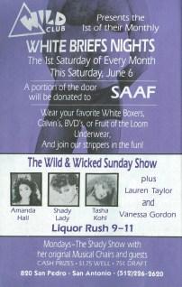 Show Ad | Wild Club (San Antonio, Texas) | June 1992