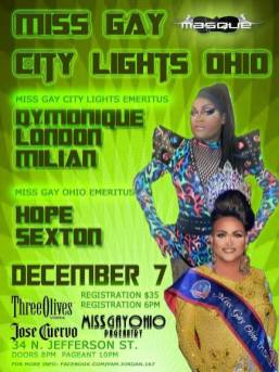 Show Ad | Miss Gay City Lights Ohio | Masque (Dayton, Ohio) | 12/7/2014