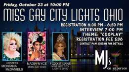 Show Ad | Miss Gay City Lights Ohio | MJ's On Jefferson (Dayton, Ohio) | 10/23/2015
