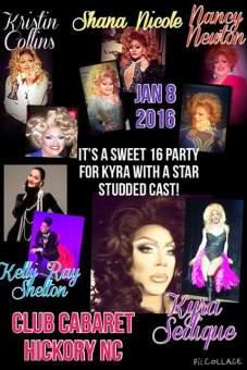 Show Ad | Club Cabaret (Hickory, North Carolina) | 1/8/2016