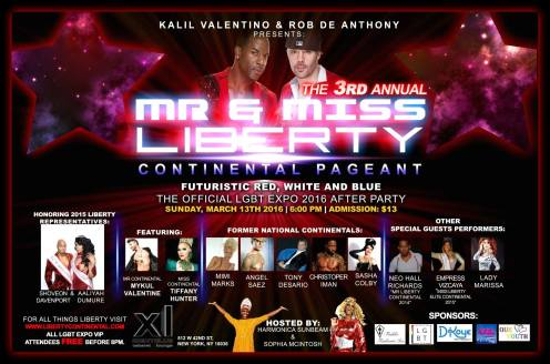 Show Ad | Mr. and Miss Liberty Continental | XL (New York, New York) | 3/13/2016