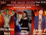 Show Ad - The Back Door (Columbus, Ohio) - 12/8/2015