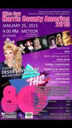 Show Ad | Miss Gay Harris County America | Meteor (Houston, Texas) | 1/25/2015