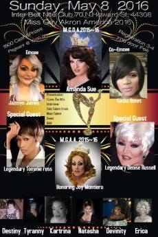 Show Ad | Miss Gay Akron America | Interbelt Nite Club (Akron, Ohio) | 5/8/2106