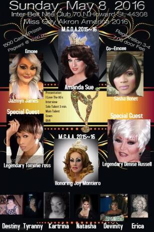 Show Ad   Miss Gay Akron America   Interbelt Nite Club (Akron, Ohio)   5/8/2106