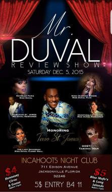 Show Ad | Mr. Duval Review Show | Incahoots Night Club (Jacksonville, Florida) | 12/5/2015