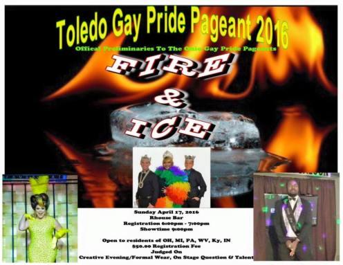 Show Ad | Mr. Miss and King Toledo Gay Pride | R House (Toledo, Ohio) | 4/17/2016